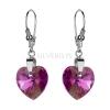 Kolczyki srebrne z kryształami Swarovski Heart Rose Aurore Boréale