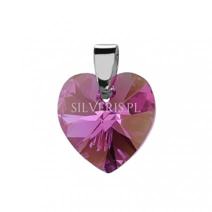 Zawieszka srebrna Swarovski Heart Rose Aurore Boréale