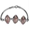 Srebrna bransoletka z Opalem Różowym