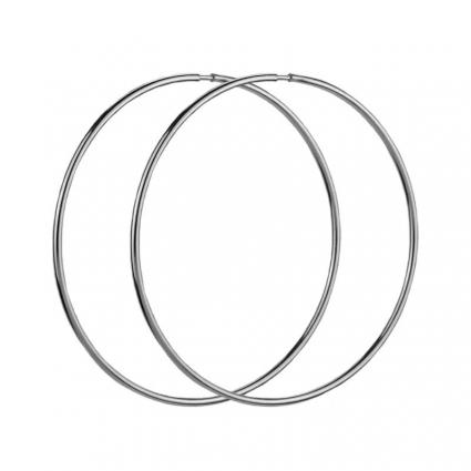 Kolczyki srebrne Duże Koła 55 mm