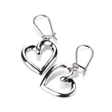 Kolczyki srebrne Serca na Walentynki