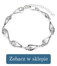 Bransoletka srebrna cyrkonia-296