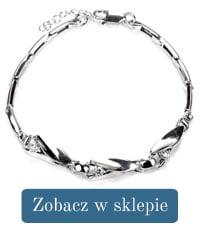 Bransoletka srebrna cyrkonia-298