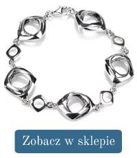 Bransoletka srebrna kwadraty-294