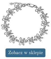 Bransoletka srebrna kwiatki-297