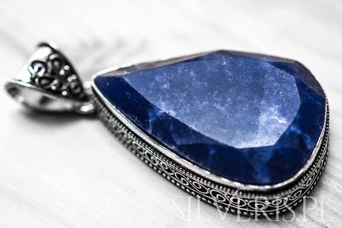 Biżuteria srebrna z szafirem