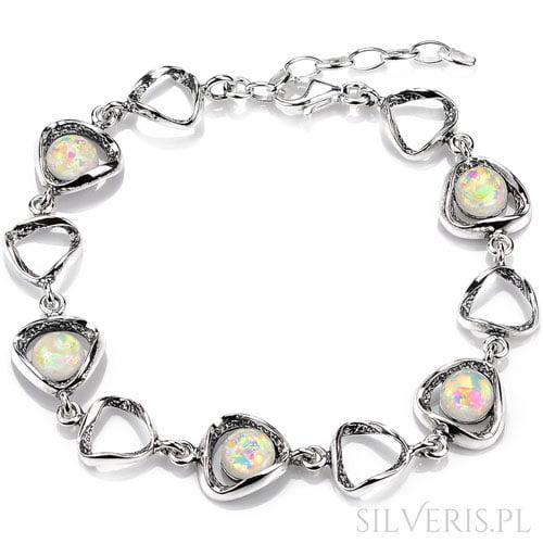bransoletka-srebrna-opal-bialy