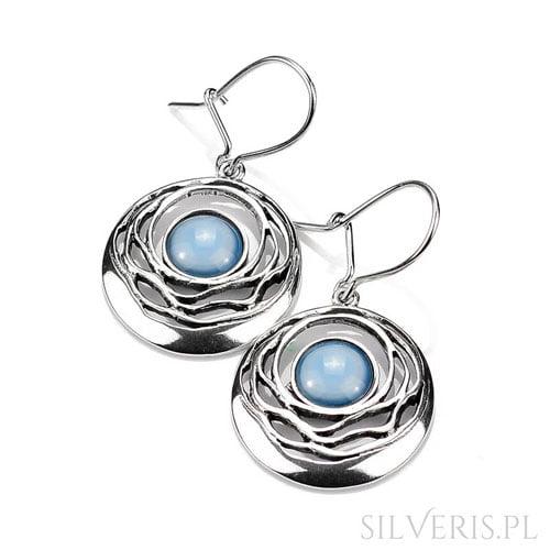 kolczyki-srebrne-agat-niebieski