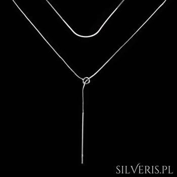Srebrny naszyjnik z przewlekaną zawieszką
