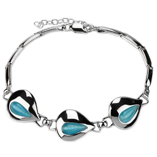 Bransoletka srebrna z Uleksytem Błękitnym - polecamy nie tylko dla puszystej kobiety