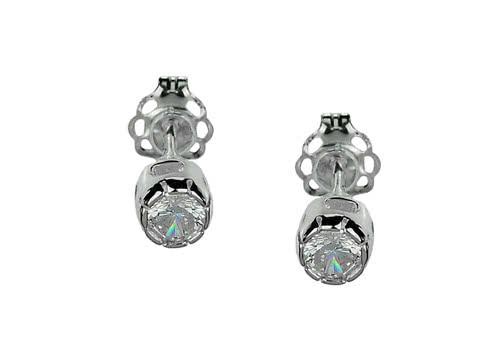 Małe kolczyki srebrne z cyrkonią