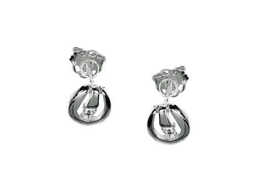 Małe kolczyki srebrne z cyrkonią dla puszystej kobiety