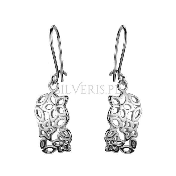 Kolczyki srebrne Kwiaty jako uniwersalna biżuteria do pomarańczowej sukienki