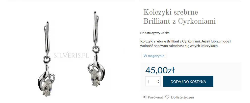Dodaj wybraną biżuterię w Silveris.pl