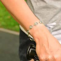 bransoletki z cyrkoniami srebrne