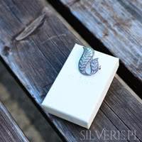 broszki srebrne z markazytami
