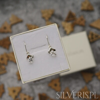 kolczyki świąteczne srebrne